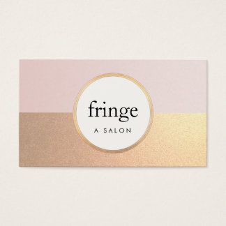 Trendy Stylish Pink FAUX Gold Foil Beauty Salon Business Card