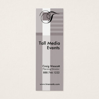 Trendy Stylish Pinstripes Profile Card Template