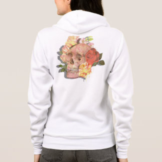 Trendy Sugar Skull Roses Goth Day of the Dead Hoodie