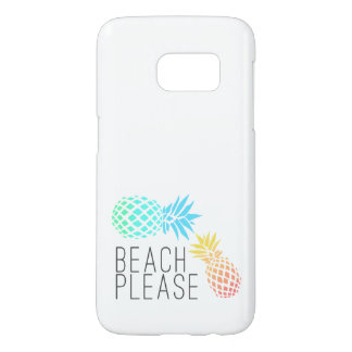 """trendy summer """"beach please"""", colorful pineapple"""