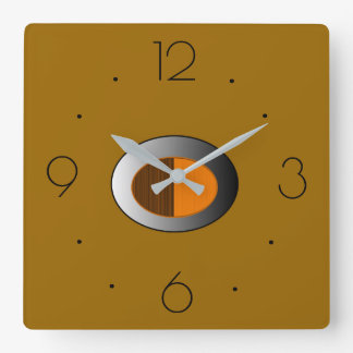 Trendy Tan with Silver centre> Kitchen Clocks