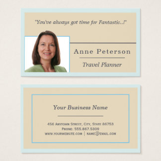 Trendy Teal Blue Beige Nested Freelance Template Business Card
