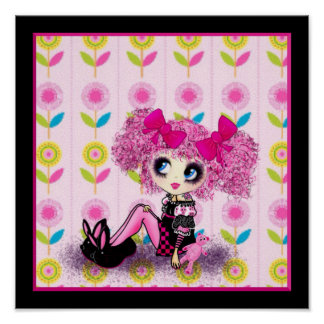 Trendy Teen Girl Fashion Doll PinkyP Posters