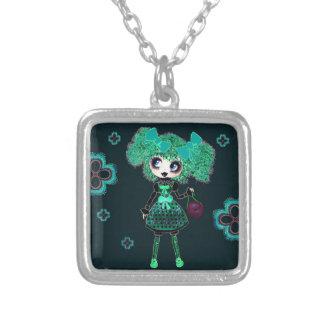 Trendy Teen Girl Gothic PinkyP Emerald Custom Necklace