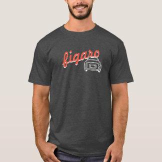 Trendy Text Figaro Car Monoline T-shirt