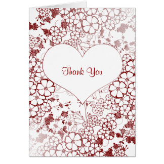 trendy thank you note greeting card