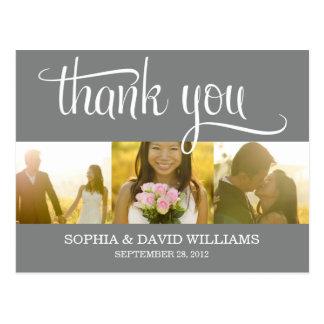 TRENDY THANKS WEDDING THANK YOU CARD POST CARD