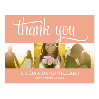 TRENDY THANKS WEDDING THANK YOU CARD POST CARDS