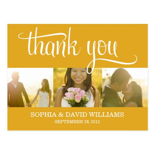 TRENDY THANKS | WEDDING THANK YOU CARD POST CARD