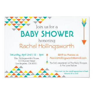 Trendy Tribal & Arrow Baby Shower Invitation
