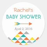Trendy Tribal & Arrow Baby Shower Sticker Labels