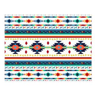 trendy tribal ethnic Navajo geometric pattern Post Card