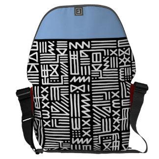 trendy tribal print black a messenger/ courier bag