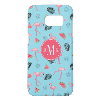 Trendy Tropical Flamingo & Watermelon Pattern