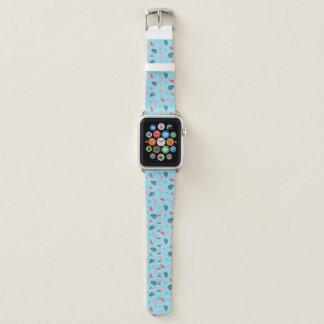 Trendy Tropical Flamingo & Watermelon Pattern Apple Watch Band