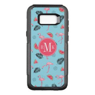 Trendy Tropical Flamingo & Watermelon Pattern OtterBox Commuter Samsung Galaxy S8+ Case