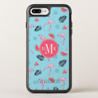 Trendy Tropical Flamingo & Watermelon Pattern OtterBox Symmetry iPhone 8 Plus/7 Plus Case