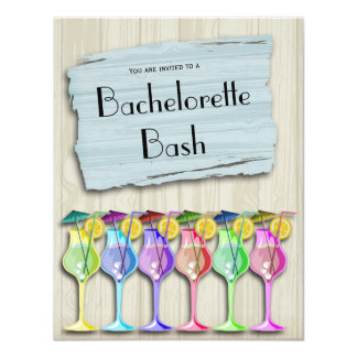 Trendy Tropical Umbrella Drinks 11 Cm X 14 Cm Invitation Card