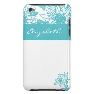 Trendy Turquoise Sunflowers  Barely There iPod Case