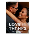 Trendy Typography Wedding | Thank You Note Note Card