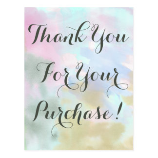 Trendy Unicorn Watercolor Thank You Direct Sales Postcard