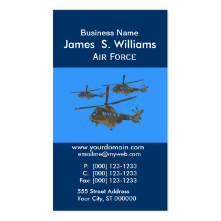 Trendy  Unique Air Military Helicopters Business Card Template