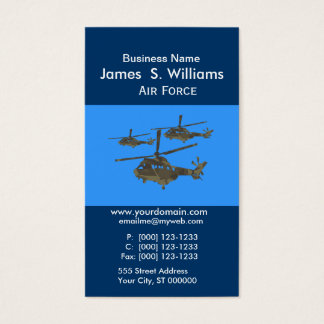 Trendy  Unique Air Military Helicopters Business Card