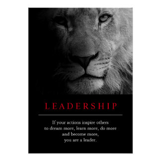 Trendy Unique Motivational Leadership Lion Poster