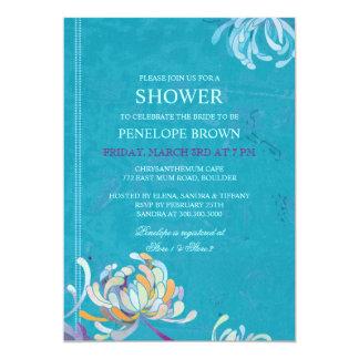 Trendy Unique Mum Floral Wedding Shower 13 Cm X 18 Cm Invitation Card