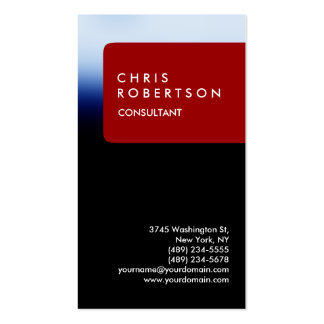 Trendy Vertical Blue Red Stripe Business Card