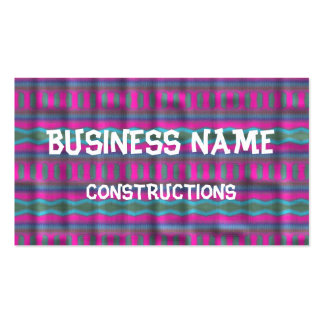 Trendy vertical pattern business card