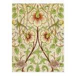 Trendy Vintage Decorator Floral Wallpaper Daffodil Postcards