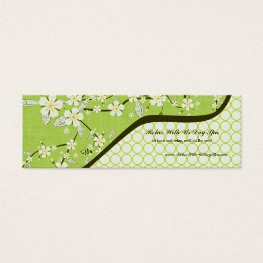 Trendy vintage floral salon spa business card