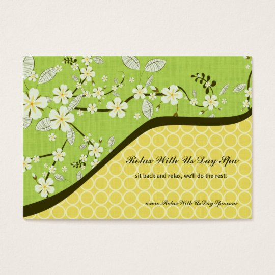 Trendy vintage floral salon spa business card