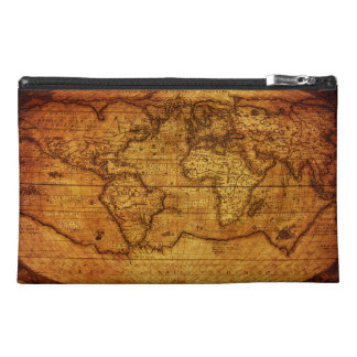 Trendy Vintage Old world Maps Travel Accessories Bags