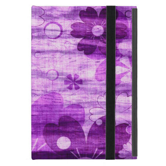 Trendy Violet Floral Vintage Covers For iPad Mini