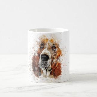 Trendy Watercolor Basset Hound Coffee Mug