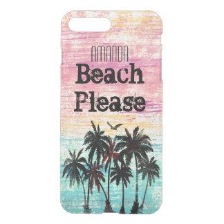 Trendy watercolor beach please iPhone 8 plus/7 plus case
