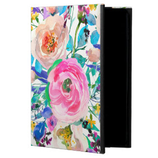 Trendy Watercolor Colorful Spring Flowers Powis iPad Air 2 Case
