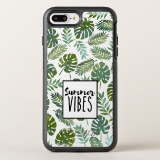 Trendy watercolor monstera and palm tree leaf OtterBox symmetry iPhone 8 plus/7 plus case