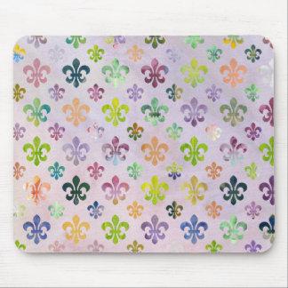 Trendy Watercolor Painting Fleur De Lis Pattern Mouse Pad