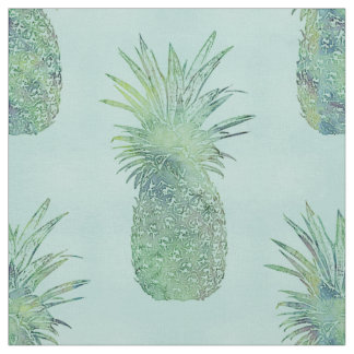 Trendy Watercolor Pineapple Pattern Fabric