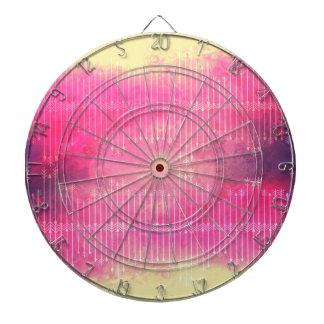 Trendy Watercolor Pink Vintage Arrow Pattern Dart Board