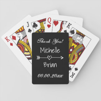 Trendy wedding party thank you favor playing cards
