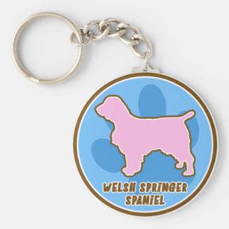 Trendy Welsh Springer Spaniel Keychain