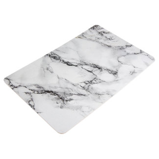 Trendy White And Black Marble Stone Pattern Floor Mat