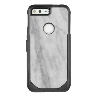 Trendy White and Gray Marble Look OtterBox Commuter Google Pixel Case