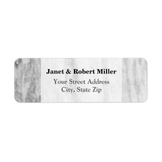 Trendy White And Gray Marble Texture Pattern Return Address Label