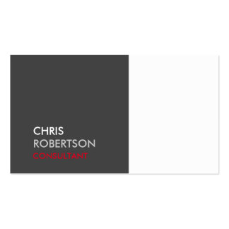 Trendy White Grey Attractive Business Card