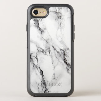 Trendy White Marble Stone OtterBox Symmetry iPhone 8/7 Case